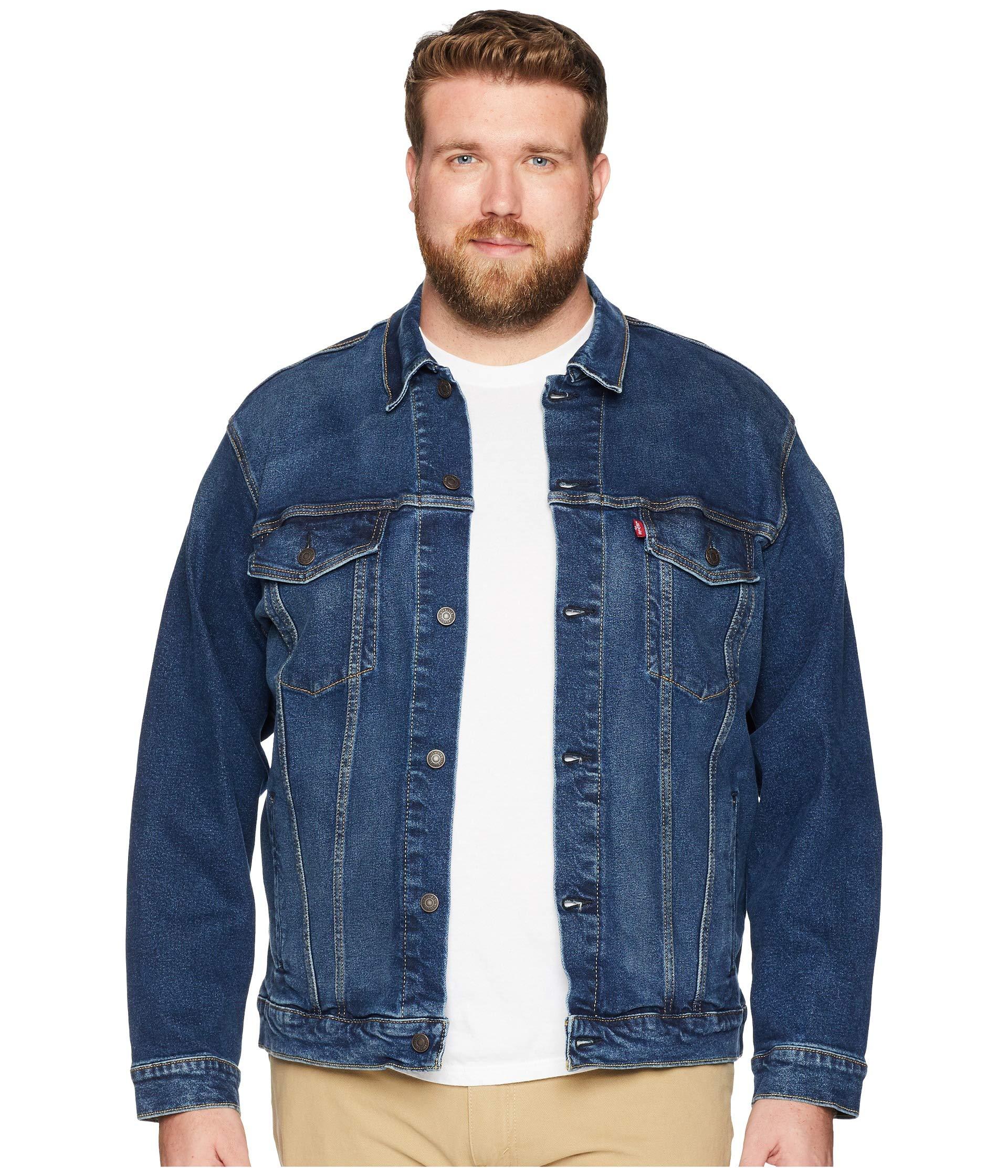 Levi's Men's Big and Tall Trucker Jacket, Colusa/Stretch, 3XL