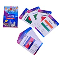 Baski Toys Flags of Asian Countries - Flash Cards (10 cm x 15 cm x 1.5 cm)