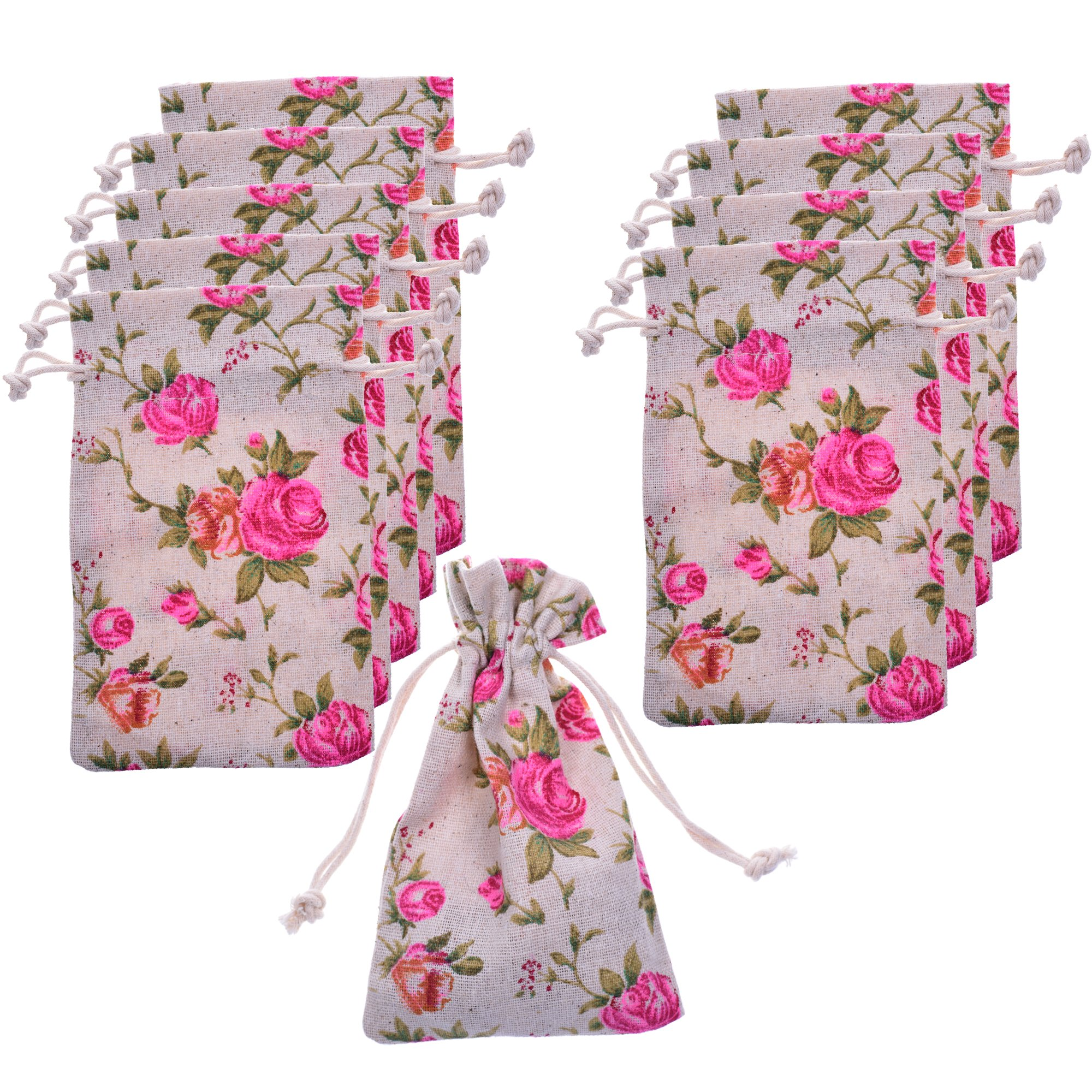 Amazon.com: BCP Pack of 20pcs 3.5 X 6 Inch Roses Pattern Double ...