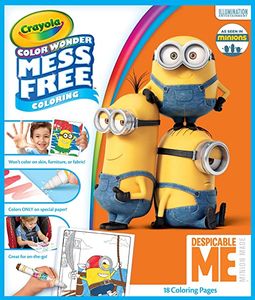 Crayola Color Wonder Despicable Me Coloring Pad & Mess Free Markers Set Art Gift For Kids & Toddlers 3 & Up, Magical Markers In 5 Classic Colors Won't Mark Walls, Clothes Or Furniture by Crayola