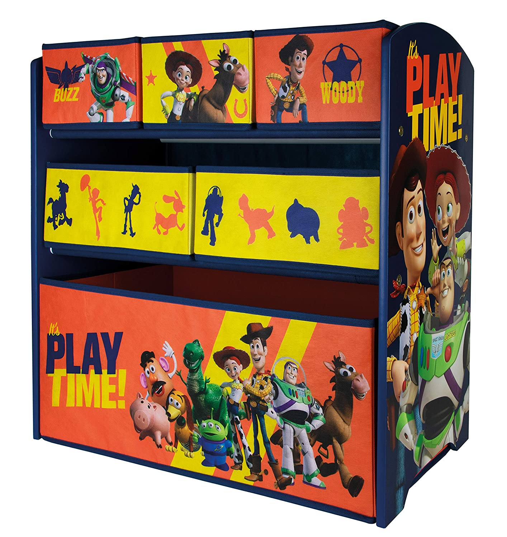 Disneys Toy Story 2 opzioni Disponibili in Legno Organizer a 6 cassetti 62 x 30 x 60 cm Scatole portaoggetti per Giocattoli URBN Toys Motivo Disney /& Marvel