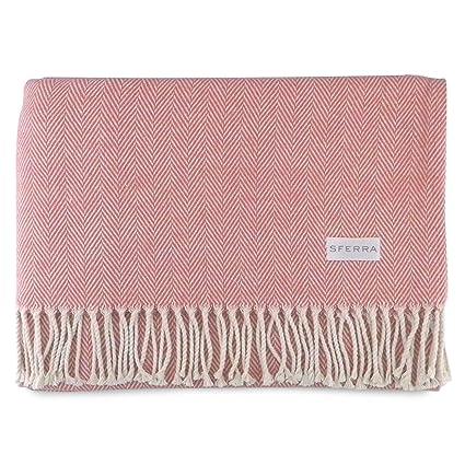 Amazon Sferra Celine Herringbone 40% Cotton Throw Blanket Delectable Sferra Throw Blanket