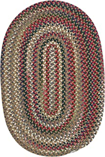 product image for Colonial Mills Aurora Reversible Braided Accent Rug (2' x 3') Straw Beige Red, Natural, Green