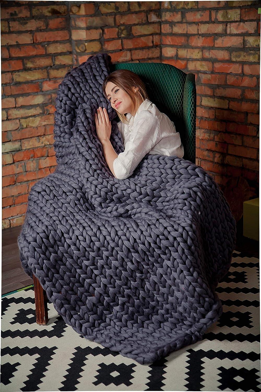 Chunky Knit Blanket for home decor Wool blanket Knitted throw bulky Throw super blanket Chunky Gift Khaki Wedding Gift Lemon Yellow