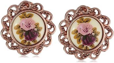 Amazoncom 1928 Jewelry Manor House Rose GoldTone ClipOn