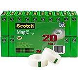 Scotch Magic Tape, 3/4 x 1000 Inches, Boxed, 20 Rolls (810K20)