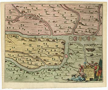 antique map bassora basra iraq dapper 1680