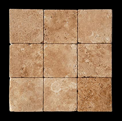 Classicchiaro 4 X 4 Tumbled Travertine Floor Tile Marble Tiles