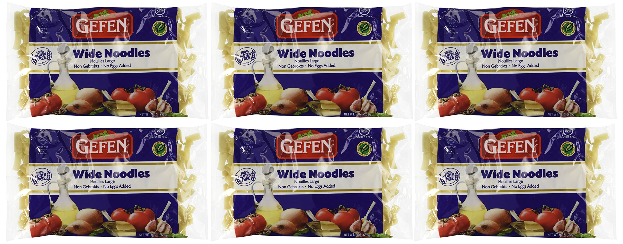 Gefen Cakes, Gefen Wide Noodles, Gluten Free, 9-Ounce Units (Pack of 6) by Gefen