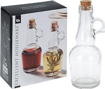hibuy 2 Clásica de Cristal Italiana Botellas para Vinagre y ...