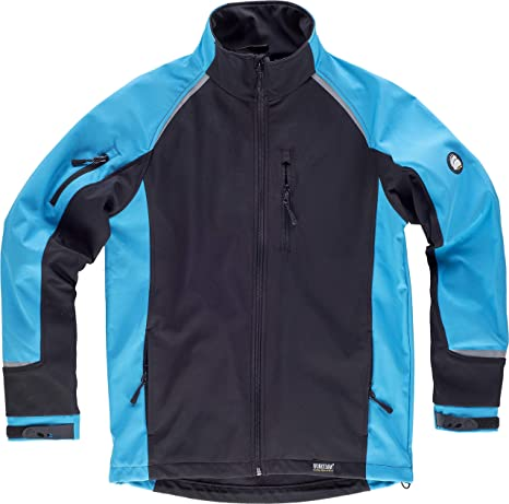 CHAQUETA WORKSHELL S9498 NGR/AZUL T-M: Amazon.es: Bricolaje ...