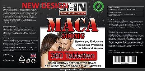 Maca Alta dosis de 5000mg de extracto de raíz de Maca por tableta 360 tabletas de