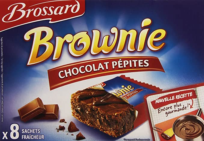BROSSARD - BROSSARD - 8 Mini brownies pépites chocolat 40g