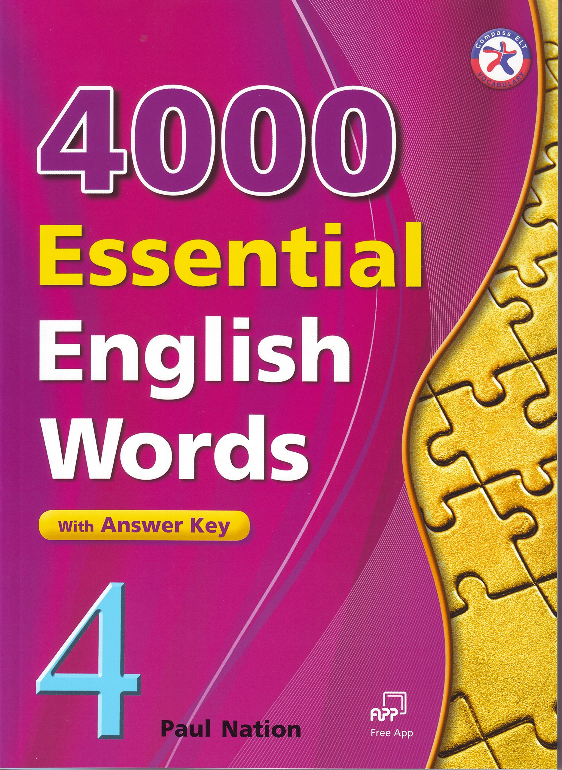 Read Online 4000 Essential English Words, Book 4 with Answer Key pdf