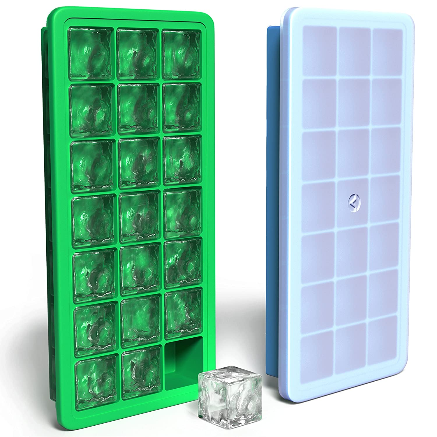 Vremi Silicone Ice Cube Trays with Lids