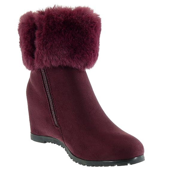 ca8a045bbb851e Angkorly - Chaussure Mode Bottine Cavalier Chic Femme Fourrure Pom-Pom  Frange Talon compensé 6.5 CM: Amazon.fr: Chaussures et Sacs