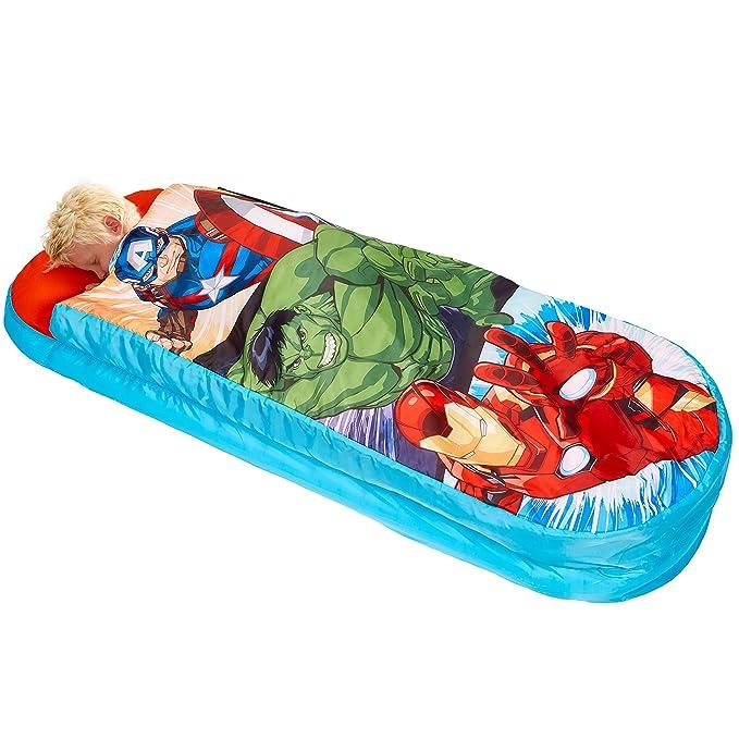 Readybed Los Vengadores Cama Hinchable y Saco de Dormir Infantil Dos en Uno, Poliéster, Azul, Individual, 75x75x90 cm: Amazon.es: Hogar