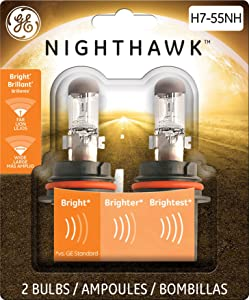 GE Lighting H7-55NH/BP2 Nighthawk Automotive Replacement Bulbs, 2-Pack