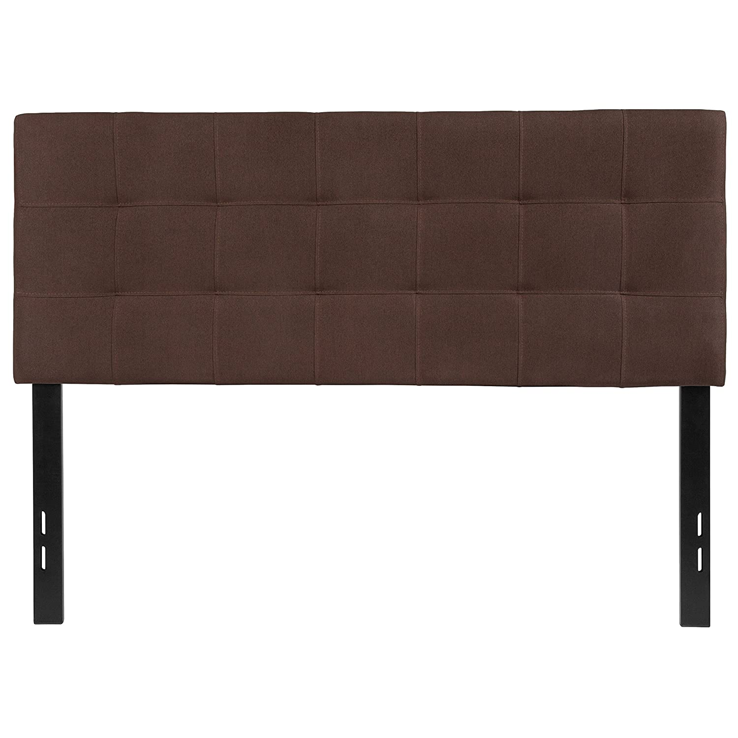 Flash Furniture Bedford Tufted Upholstered Full Size Headboard in Dark Brown Fabric