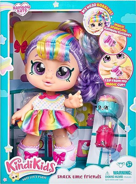 Kindi Kids Snack Time Friends Doll - Rainbow Kate