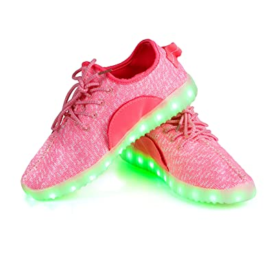 66219df2d1 Shinmax LED ChaussuresLED Chaussures, Chaussure LED Sports Basket Lumineuse  7 Couleur USB Charge Chaussure Clignotants