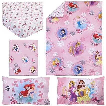 amazon com tl 4 piece kids girls pink pretty princess toddler bed
