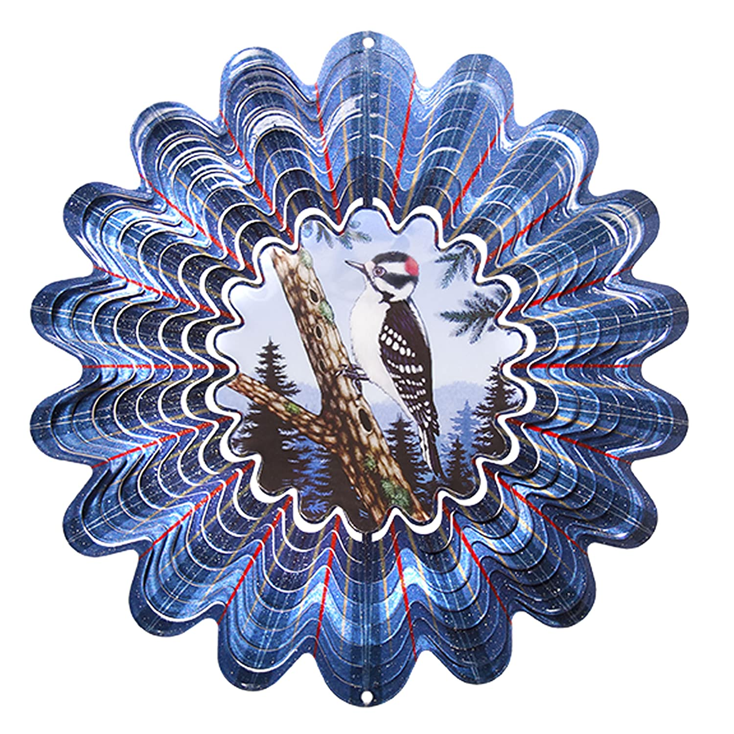 Iron Stop DA135-10 25cm Animated Downy Woodpecker Windspinner Woodstream Europe Limited