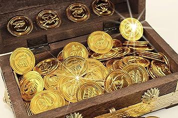 Piraten Schatz Gold Münzen 200 Stück Amazonde Spielzeug