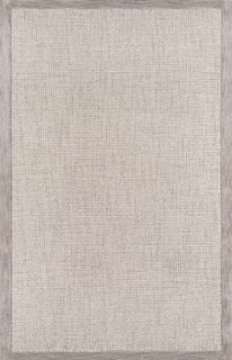 """Momeni Rugs DELHIDL-65SVL80A0 Delhi Collection 100% Wool Hand Carved & Hand Tufted Contemporary Area Rug, 8'0"""" x 10'0"""", Silver"""