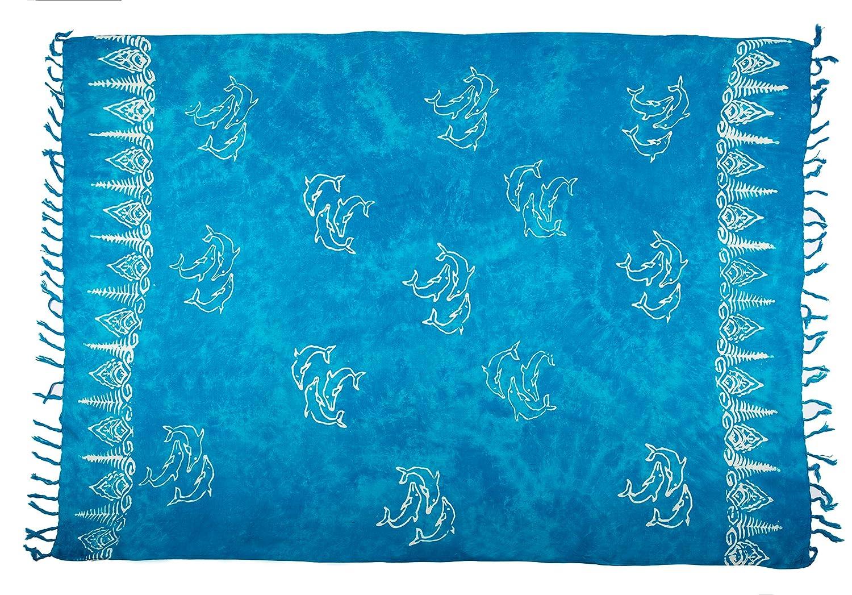 Sarong Pareo Batik telo da mare portafoglio spiaggia sciarpa drappo Tye dye Bali