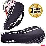 Athletico 3 Raqueta Bolsa de Tenis   Acolchado para proteger Raquetas y Ligero   Profesional o Principiante Jugadores de…