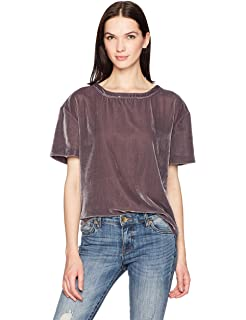 2c49a892371 Calvin Klein Jeans Women s Short Sleeve Velvet Crew Neck T-Shirt