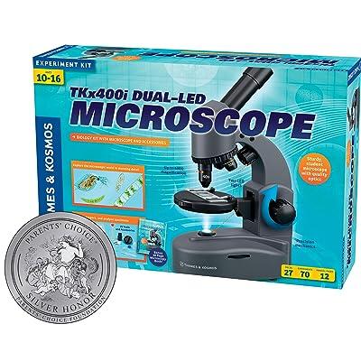 Thames & Kosmos TKx400i Dual-LED Microscope: Toys & Games