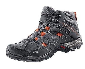 Salomon Campside MID GTX – Botas de senderismo/zapatos – gris, gris y naranja