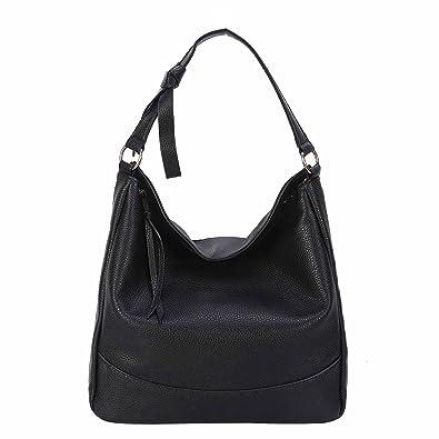 Mufly Fashion Women s Handbag Large Shoulder Bag Tote Bag (Black 1 ... 1ad105d673b3d