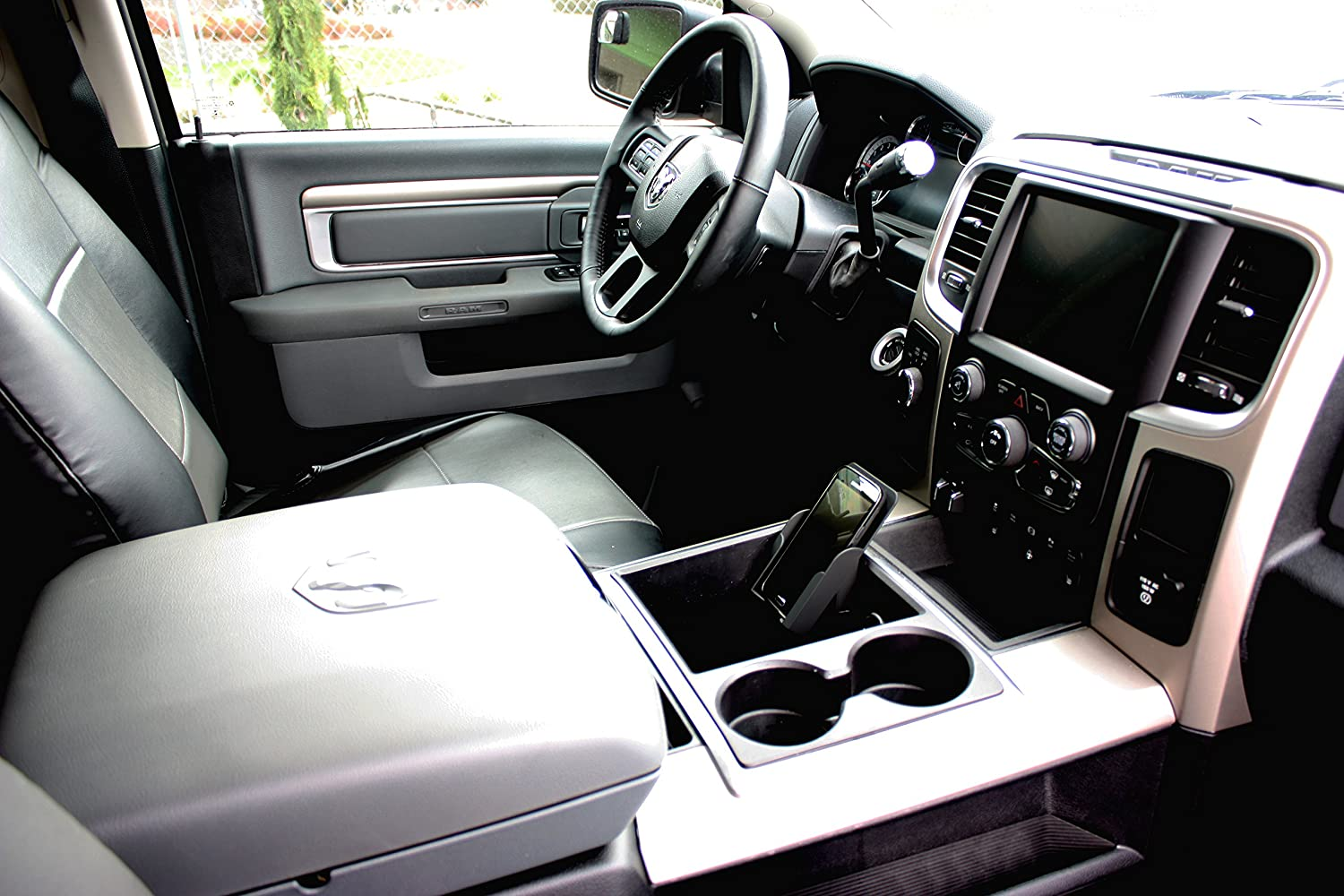 Large WadeStar RPC-Large RPC Phone Holder Converts the Business Card Holder Into a Cell Phone Holder in Select 2009-15 Dodge Ram Trucks