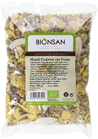 Bionsan Muesli Crujiente con Frutas Crunchy - 6 Paquetes de 350 gr - Total: 2100