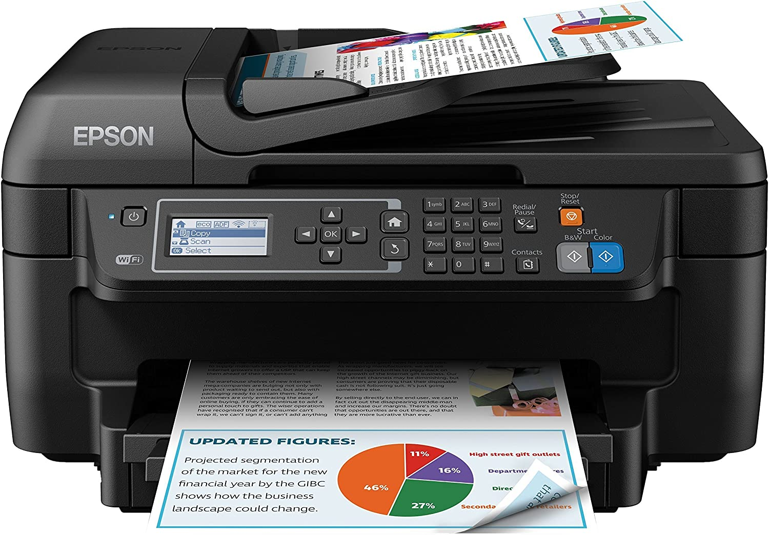Epson WorkForce WF-2750DWF - Impresora multifunción 4 en 1 (WiFi ...