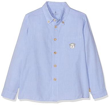 Bellybutton Kids Hemd 1/1 Arm, Camisa Unisex bebé, Azul (Baby Blue 3023) 80 cm: Amazon.es: Ropa y accesorios