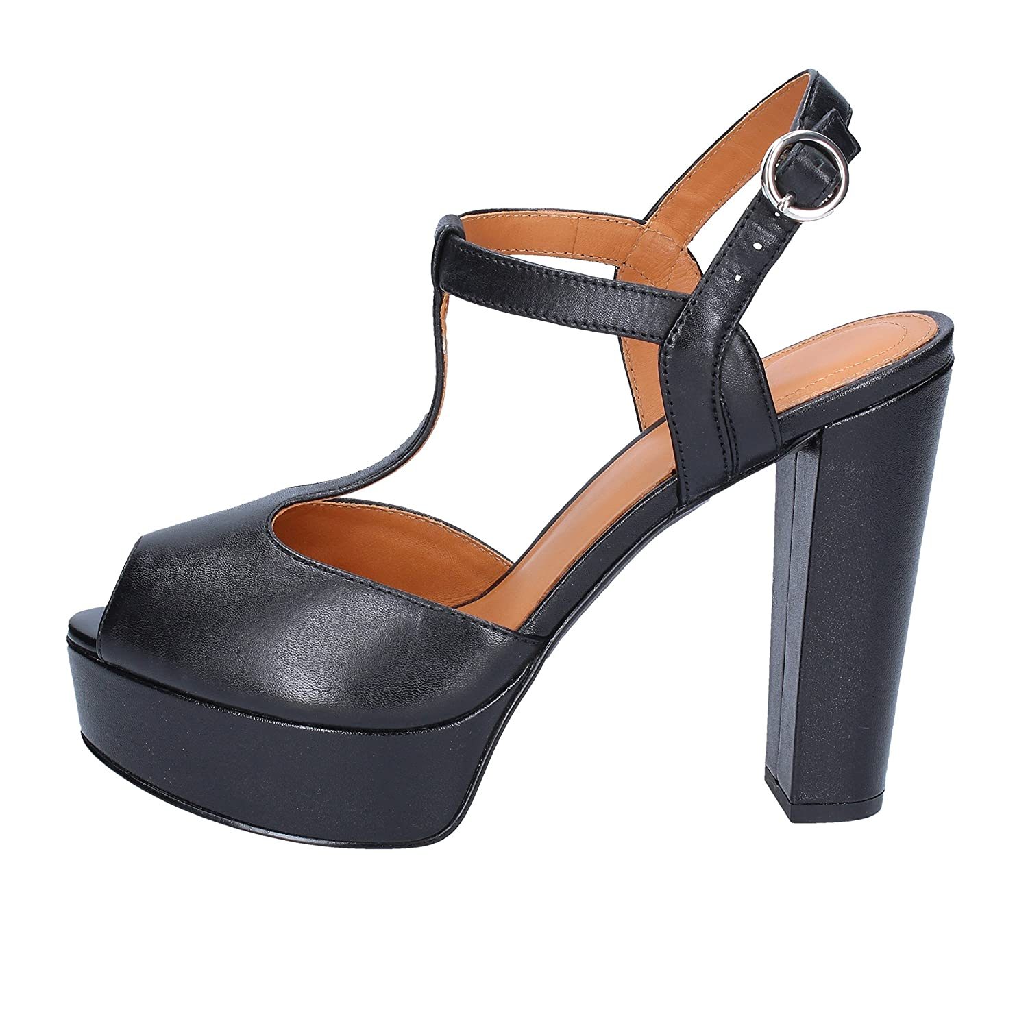 - WHAT FOR Sandals Womens Leather Black