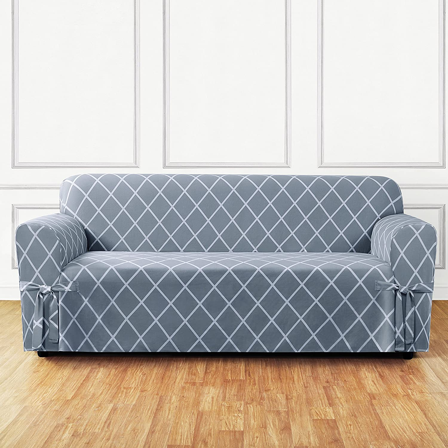 Amazon.com: Sure Fit Lattice 1 Piece   Sofa Slipcover   Pacific Blue  (SF45868): Home U0026 Kitchen
