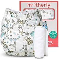 Motherly Reusable D08 Pattern Baby Diaper with Insert Nappy Washable Cloth