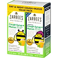 Zarbee's Naturals Children's Cough Syrup* + Mucus Daytime & Nighttime, Grape Flavor...