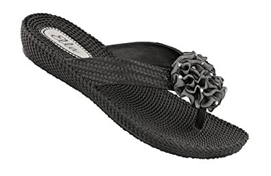 a8735d3af5b0 Ella Womens Danni Low Wedge Toe Post Flip Flop Sandals in a choice of  colours (