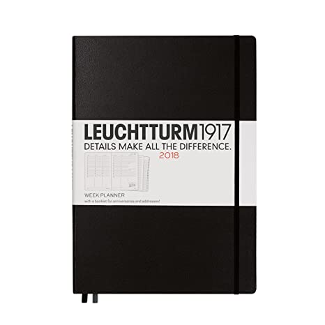Leuchtturm1917 - Agenda 2018 12 meses A4 22 x 31 cm negro ...