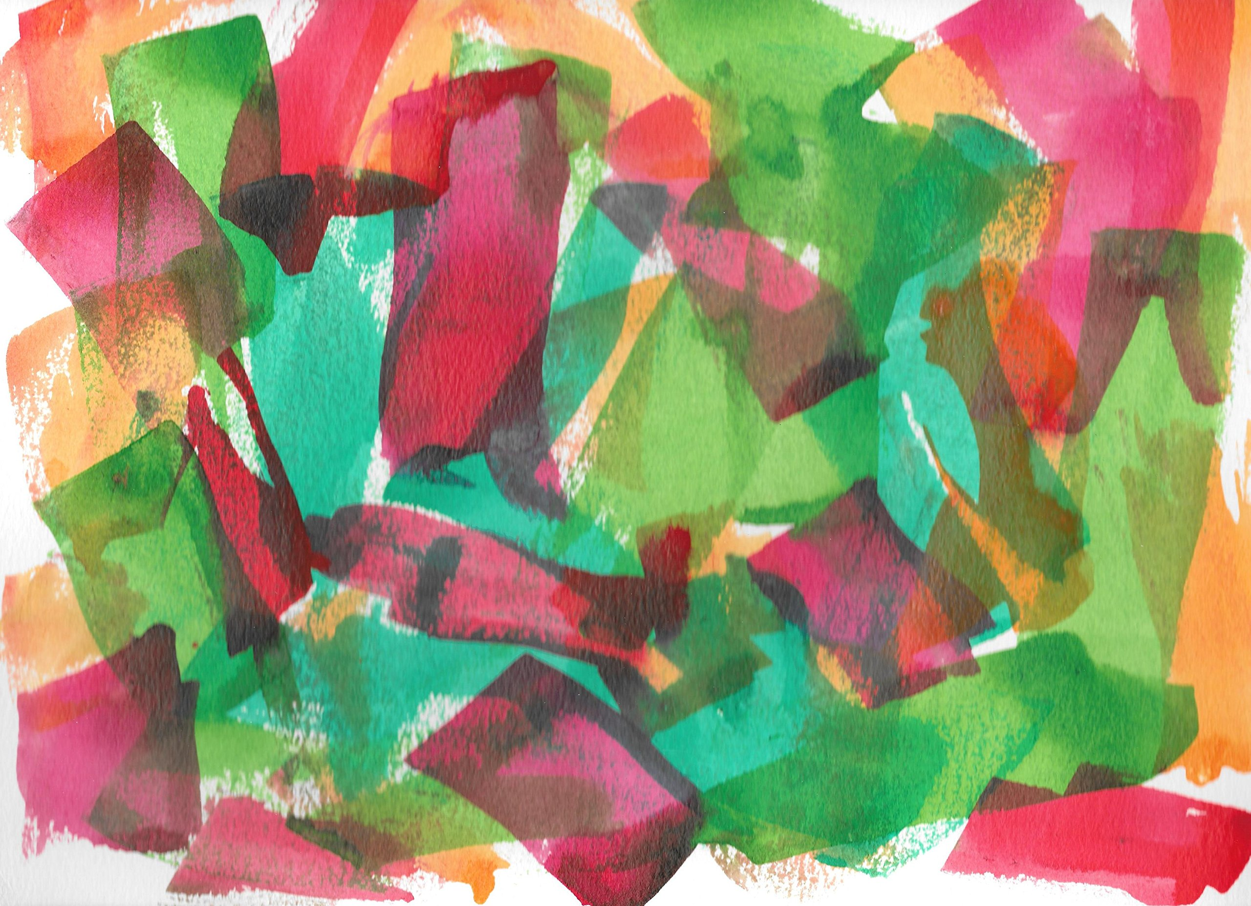 Original Painting - Abstract 2015-97 - 9'' x 12'' India Inks on Watercolor Paper