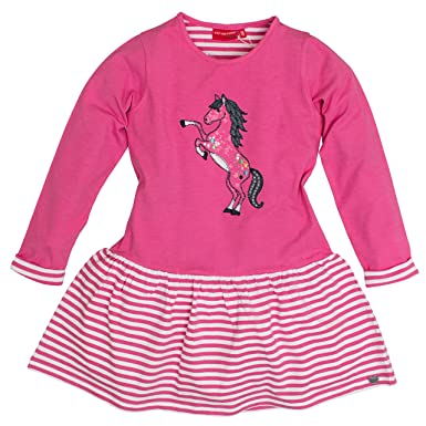 Salt Pepper Girl S Dress Forever Pferd Candy Pink Melange