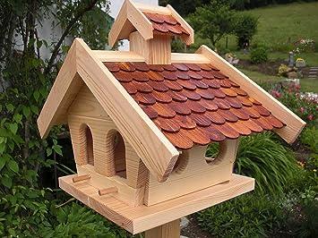 Pajarera Soporte pájaro Casas de pajarera Comedero de madera carpintero trabajo: Amazon.es: Productos para mascotas