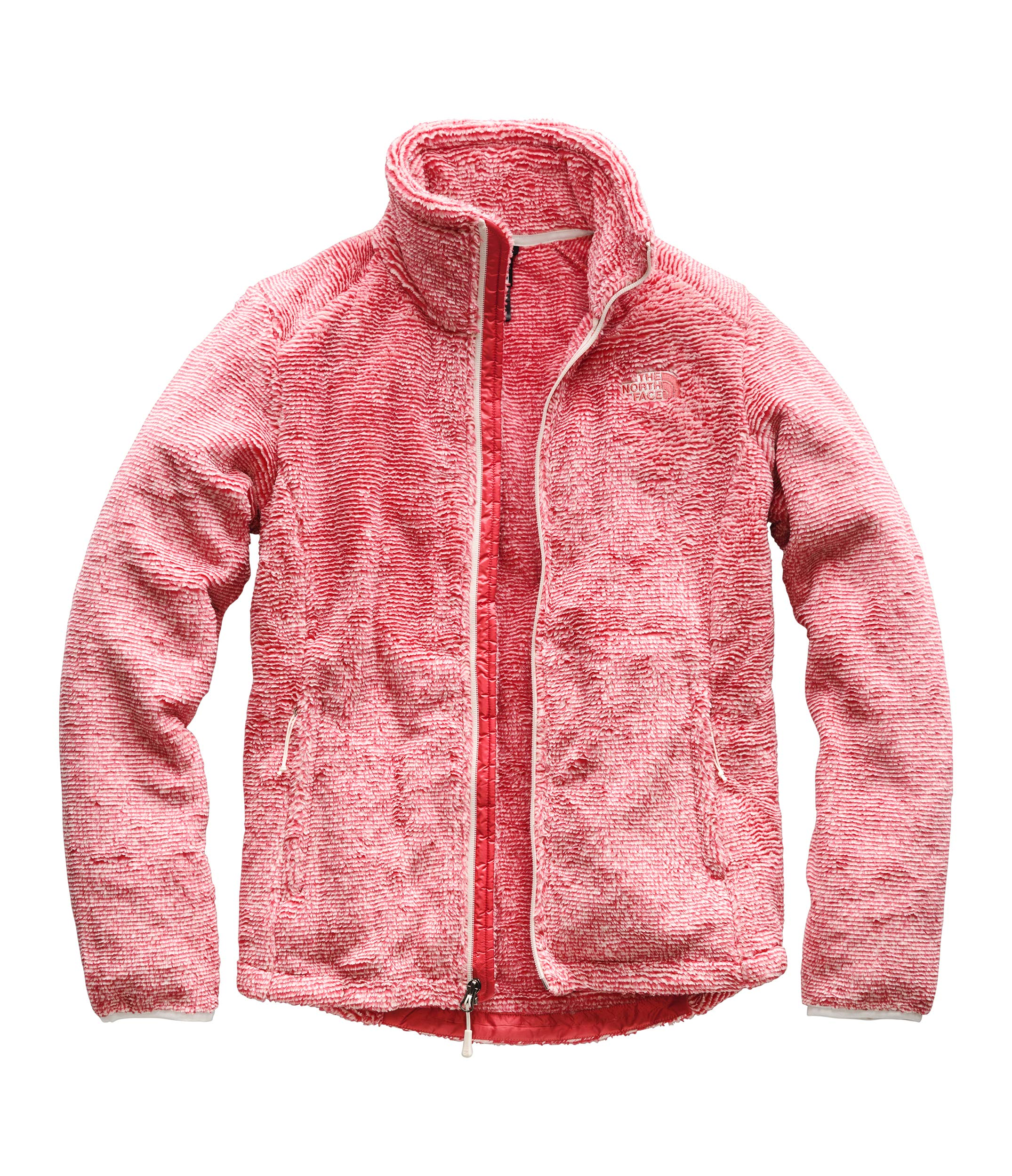 The North Face Women's Osito 2 Jacket Vintage White/Spiced Coral Stripe Small by The North Face