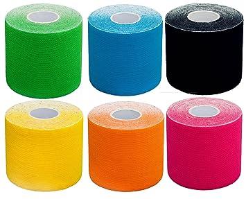 6 x Mixpackung élastique de scotch bande de kinésiologie 5 m x 5 cm ... 3fda7b3d84e